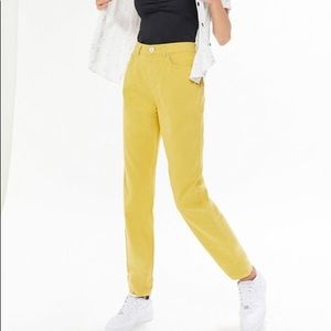 BDG Twill High-Waisted Mom Pants